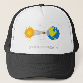 Solar Eclipse Geometry Illustration Trucker Hat