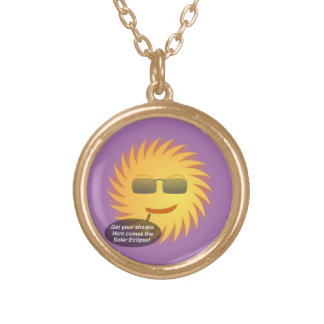 Solar Eclipse Gold Plated Necklace