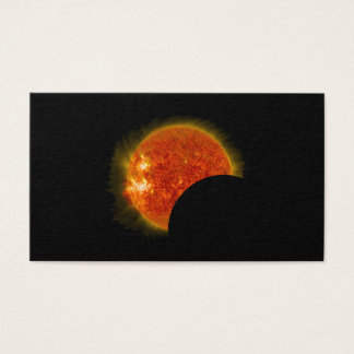 Solar Eclipse in Progress Business Card