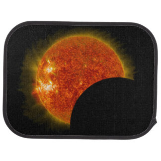 Solar Eclipse in Progress Car Mat