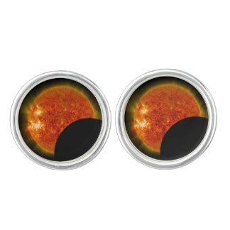 Solar Eclipse in Progress Cuff Links