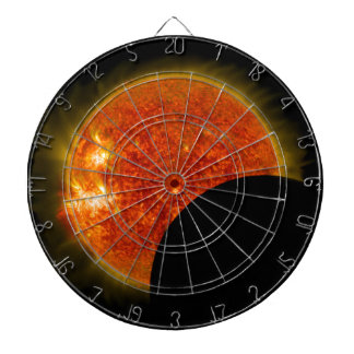 Solar Eclipse in Progress Dartboard