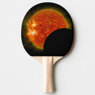 Solar Eclipse in Progress Ping Pong Paddle