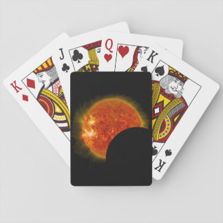 Solar Eclipse in Progress Playing Cards