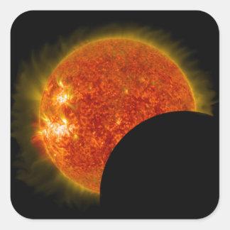Solar Eclipse in Progress Square Sticker
