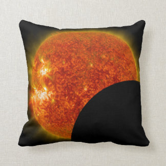 Solar Eclipse in Progress Throw Pillow