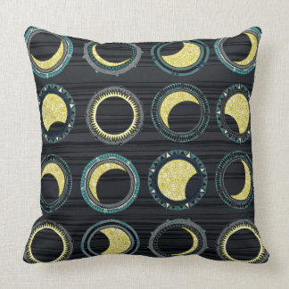 solar eclipse mandala throw pillow