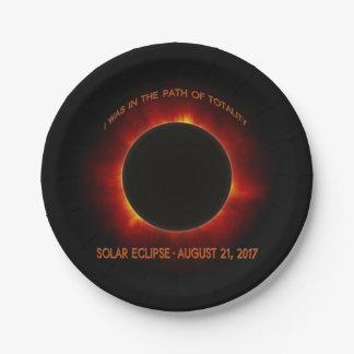 Solar Eclipse Paper Plate