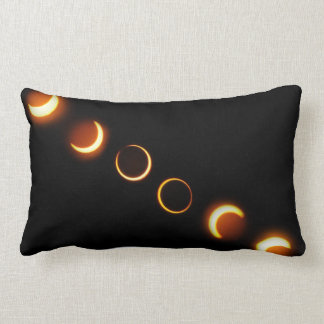 Solar Eclipse Phases Throw Pillow