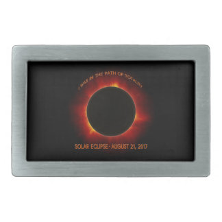 Solar Eclipse Rectangular Belt Buckle