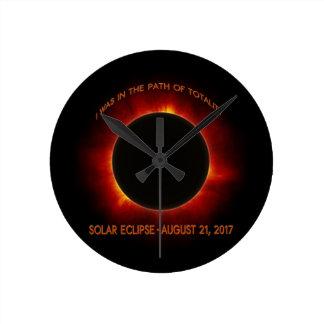 Solar Eclipse Round Clock