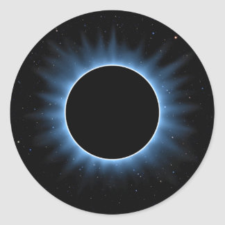 Solar Eclipse Round Stickers