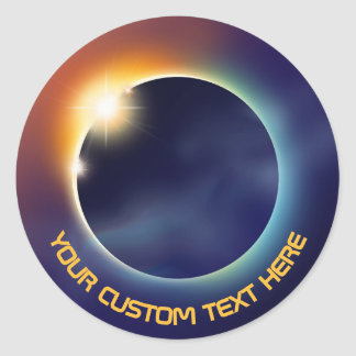 Solar Eclipse | Space Astronomy Round Sticker