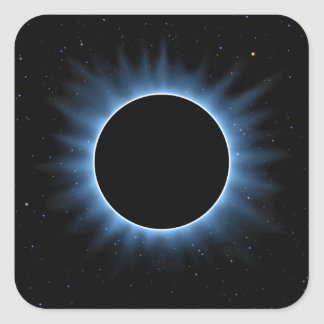 Solar Eclipse Square Stickers