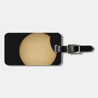 solar eclipse, sun, moon, science, phenomenon, pla luggage tag