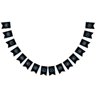 Solar Eclipse Swallowtail Party Bunting Banner