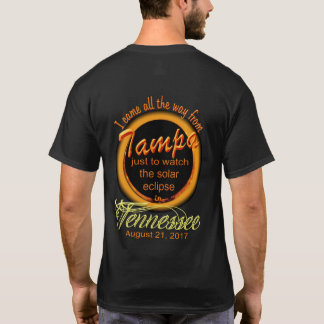 Solar Eclipse - Tampa to Tennessee T-Shirt