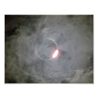 Solar Eclipse Through Clouds Photo Print