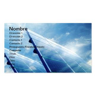 SOLAR ENERGY TARJETA DE VISITA
