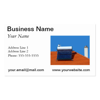 Solar energy business card