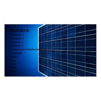 SOLAR ENERGY TARJETAS DE NEGOCIOS