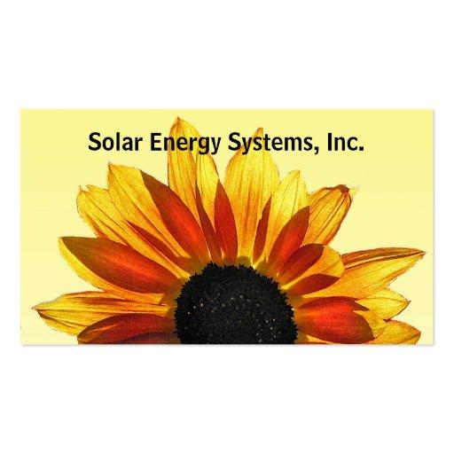 Solar Energy Business Cards