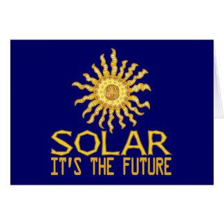 Solar Energy Future Greeting Card