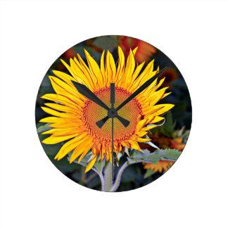 Solar energy of the sunflower wallclock