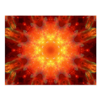 Solar Energy Portal Mandala Postcard