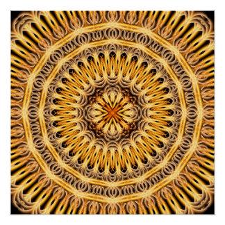 Solar Expansion Mandala Perfect Poster