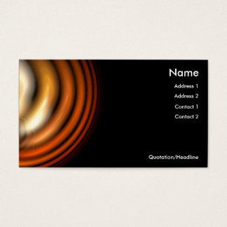 Solar Flare Business Card Template