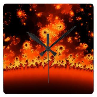 Solar Flare Fractal Clock