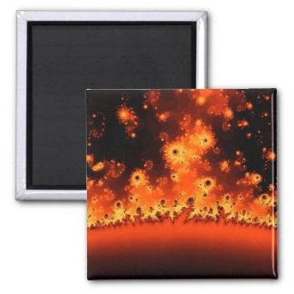 Solar Flare Fractal Magnet