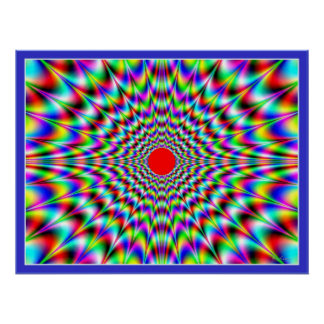 Solar Flare Optical Illusion Poster