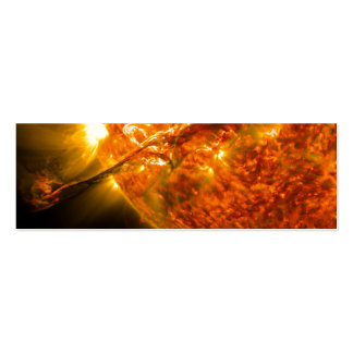 Solar Flare or Coronal Mass Ejection on Sun Business Card Templates