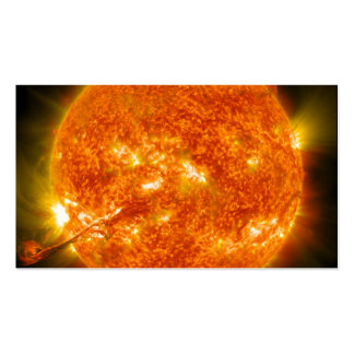 Solar Flare or Coronal Mass Ejection on Sun Business Card