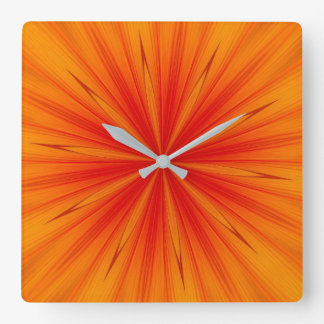 Solar Flare Square Wall Clock