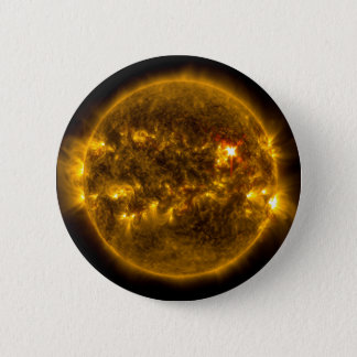 Solar Flares on the Sun Outer Space 2 Inch Round Button
