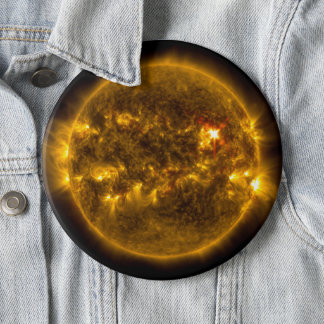 Solar Flares on the Sun Outer Space Jumbo 6 Inch Round Button