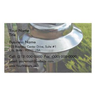 Solar garden light business card template