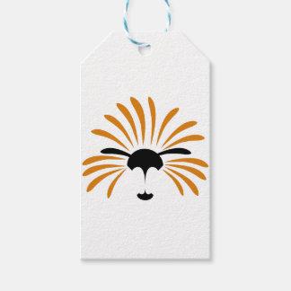 Solar lion illustration, funny, cartoon gift tags