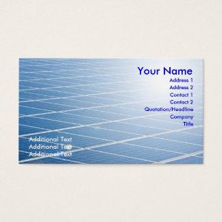 Solar Panel Business Card