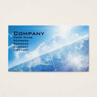 Solar Panel Business Card