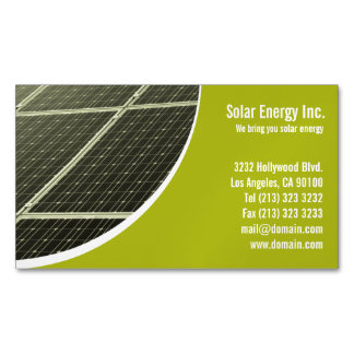 Solar Panel Business Card Magnets
