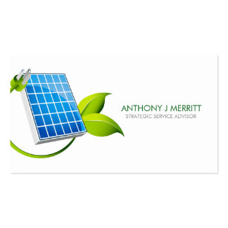Solar Panel Icon Business Card