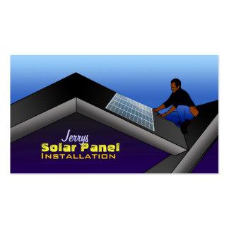Solar Panel Installation Business Cards