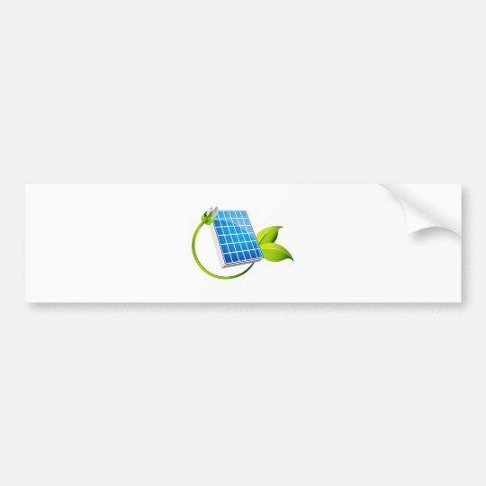 Solar Panel Leaf Plug Bumper Sticker