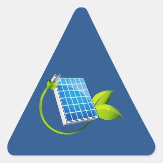 Solar Panel Leaf Plug Triangle Sticker