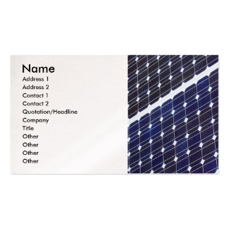 Solar panel, Name, Address 1, Address 2, Contac... Business Card