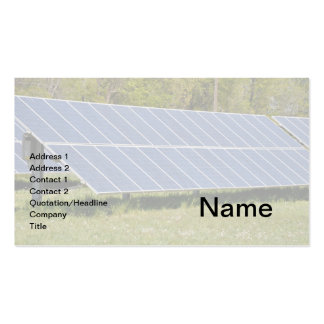 solar panels business card templates